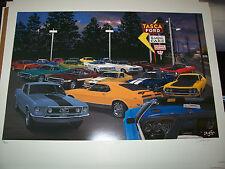 Tasca Ford  Dave Snyder Car Art Print  Classic Mutang Boss-Mach 1-Torino