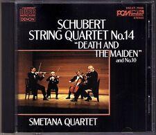 Smetana Quartet: Schubert Death and the Maiden la morte e la ragazza CD DENON