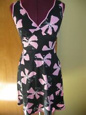 Womens SPEECHLESS Black n Pink Satin Trim Summer Sun Dress Dresses 3