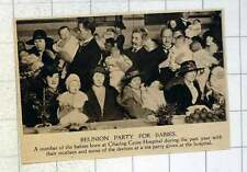 1920 Reunion Party For Babies Born Charing Cross Hospital During The Year