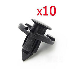 10pcs Car Plastic Rivet Weatherstrip Fastener Mud Flaps Bumper Fender Push Clip
