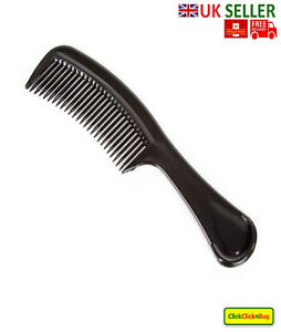 Professional Salon Quality Detangler Comb Hair Gents Female Black Wide Tooth