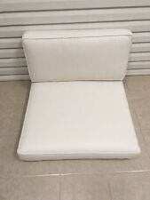 2 Frontgate Delano Outdoor Patio Sofa Chair Thick Cushions Herringbone 34x33 NEW