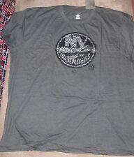 NEW NHL NY New York Islanders T Shirt Men 5XL XXXXXL BIG Grey Black NEW NWT