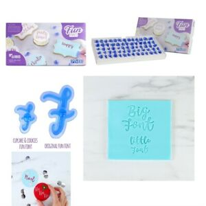 PME Fun Fonts CUPCAKE COOKIE Letter Stamping Set Collection 1 Cake Decorations