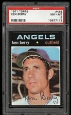 SET BREAK -1971 TOPPS # 466 KEN BERRY, PSA 8 NM-MT, CALIFORNIA ANGELS,  L@@K !