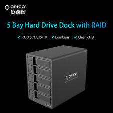 "ORICO 40TB 3.5"" HDD 5 Bays Hard Drive Aluminum Raid Enclosure USB 3.0 to SATA"
