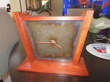 Mantel Clock , Custom Made  Bubunga (Exotic Wood)  Unique , Rare , Pewter Patina