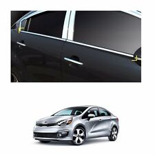 Chrome Window Accent Molding Trim Line Sill 4p Set For KIA RIO 4-Door 2012-2016