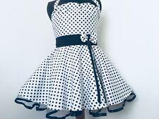 Mädchen Rockabilly 50-er Tantz Kleid für Kinder Gr 116-128 Einschulüng