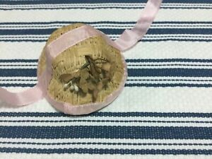VICTORIAN styled small straw doll Hat to fit your antique doll Very CUTE  No 97