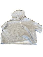 Women's Divided Small Cropped Gray Hooded Sweatshirt Look!! H&M
