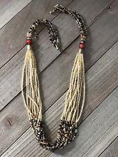 Beaded Choker Necklace Boho Hippie Statement Vintage Estate