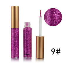 Waterproof Glitter Liquid Metallic Shiny Smoky Flashing Eyeliner Eyes Eyeshadow #9 Hot Pink