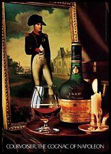 1982 Courvoisier Cognac Napoleon Painting Brandy Drink Vintage Photo Print Ad