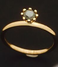 "9ct Yellow Gold ""Spinning""  Hematite  Stackable Ring 1.5mm Thick NOT PLATED"