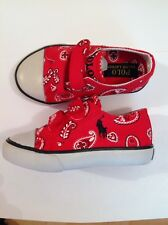 Polo Ralph Lauren Rouge Paisley Baskets taille 6 UK BRAND NEW