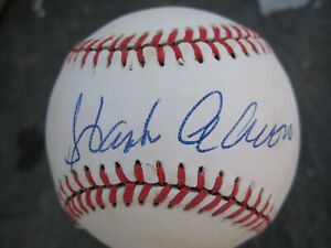 Hank Arron Single Signed Official Major League Baseball Autographed JSA Cert