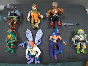 Job lot. 7 Ninja turtles action figures. Original 1980's.