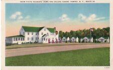 V11.Vintage  US Linen Postcard.Snow White Tourist Home.Pompey.NY