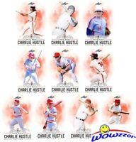 "2020 Leaf Baseball PETE ROSE ""Charlie Hustle Edition"" Complete 10 Card Set MINT!"