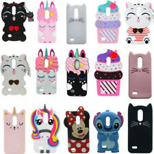 3D Cartoon Soft Silicone Rubber Case Cover For LG K20 Plus Harmony K30 K10 2018