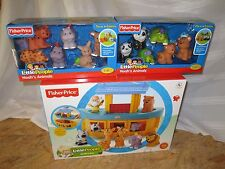 Fisher Price Little People Noah's ARK 20 Animals Boat elephant NEW gift set lion
