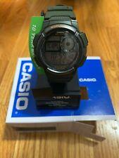 Casio Men's '10-Year Battery' Quartz Resin Watch (Model: AE1000W-3AV) in Green