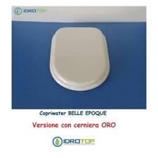 Copriwater Cesame  BELLE EPOQUE BIANCO Cerniera Rallentata Soft Close Oro-Sedile
