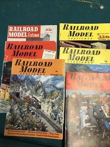 Lot Of 7 Vintage Railroad Model Craftsman Magazine 1953 - 1955