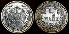 1906 F Mint WILHELM II BU 1/2 Mark German Empire Silver Eagle Coin Lot 5