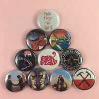 """Pink Floyd 1"""" Button Pin Set Roger Waters David Gilmour The Wall Dark Side Moon"""