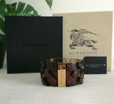 Burberry Brown and Gold Oversized Bangle, Bracelet RRP £325.00 New with Box