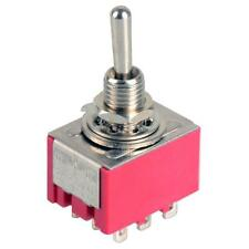 9-Pin Mini Toggle Switch 3PDT 2 Position ON-ON 2A250V/5A125VAC MTS-302 HLRG