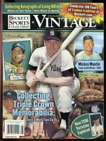 Beckett Sports Collectibles Vintage #148 Aug 2003 Mickey Mantle NY Yankees VG