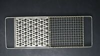 "Vintage Flat Metal Cheese Grater E-Z MFG Co Made In USA 12.5"" X 4.5"""