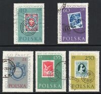 Poland 1960 The 100th Anniversary of Polish Stamps Full Fine Mounted USED Set