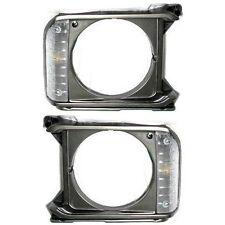 New Set of 2 Left & Right Side Headlight Door/Bezel For Toyota Pickup 1979-1981