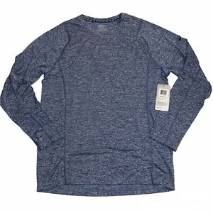Asics Everyday II Athletic Long Sleeve Shirt Heathered Blue, Men's Size S MR1856