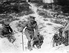 1917 World War 1 Photo-King George V Climbing Butte de Warlencourt-France