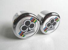 *NOS Vintage 1980s Colnago handlebar bar end plugs - (Silver)*