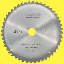 Metabo Lame de Scie Circulaire Hw / Ct 254 X 2,4 X 30 48 Wz pour Kgs 254 M