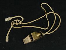 Vintage Acme Thunderer Whistle England Military US Army Brass Police Lifeguard