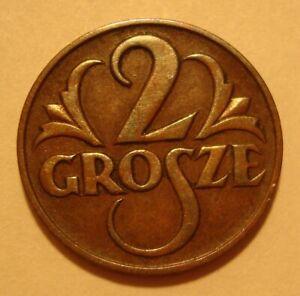 1925 2 Gr POLISH BRONZE Coin