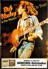 BOB MARLEY GERMAN TOUR 1980 VINTAGE AD REPRO ART PRINT POSTER