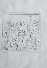 1834 Large Architectural Print Basilica Lateran Rome Jesus Taken In Garden