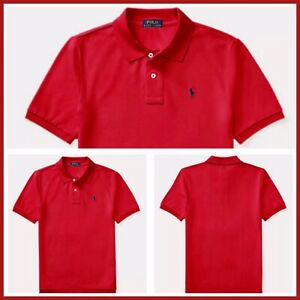 POLO RALPH LAUREN AUTHENTIC KIDS BOYS BRAND NEW ORIGINAL RED T-SHIRT Size 5, NWT