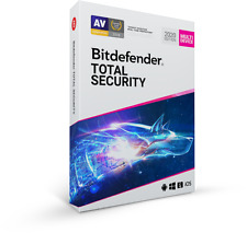 BITDEFENDER TOTAL SECURITY 2020 - 5 DEVICE 1 YEAR RETAIL DVD BOX NEW