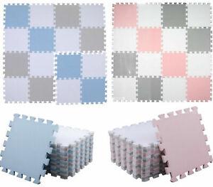 Pink Blue Kids Play mat Living Room Exercise Yoga Gym Puzzle Foam Floor Carpet