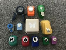 12 Joblot bundle Used Card Punches Craft Card Butterflies Nature Martha Stewart